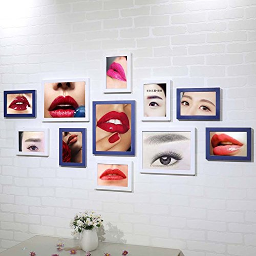 SX-ZZJ photo wall Beauty Salon Promotion Ideas Korean Tattoo Eyebrow Lip Semi-permanent Poster Photo Wall Picture Frame Wall Decoration Paintings (Color : D)]()