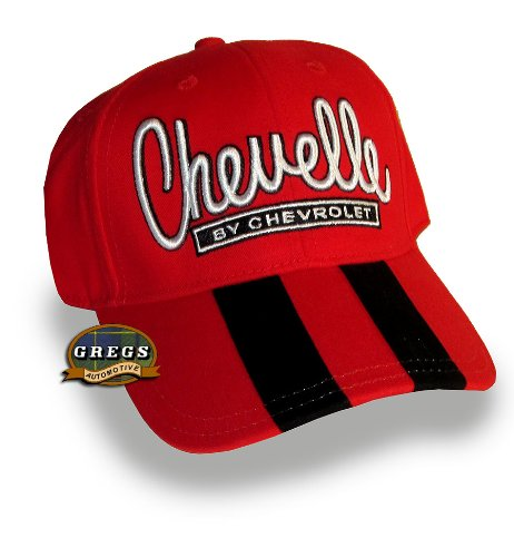 Bundle with Driving Style Decal Gregs Automotive Chevelle Rally Stripe Hat Red Black Stripes