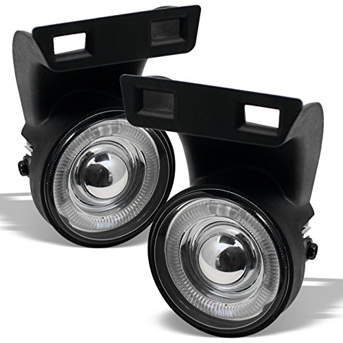 For 1994-2001 Dodge Ram Pickup Truck Halo Projector Fog Lights Lamps w/Switch + Wiring Harness + Bulb