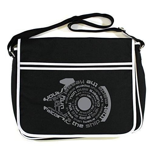 Messenger Bag Falcon Star Black Wars Millennium Retro 6OxIU0
