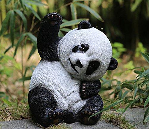 J-Beauty Outdoor Panda Baby Garden Sculpture Decoration S...