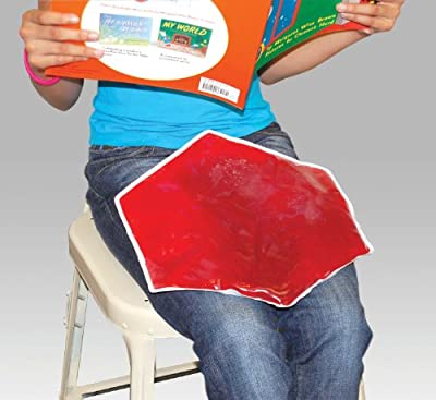 Sensory Stimulation Weighted Gel Lap Pad - 3 Pounds Hexagon Shaped Red Color
