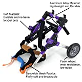 SYLPHID Adjustable Dog Wheelchair for Hind Legs