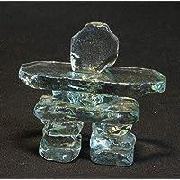 "3.5"" Clear Glass Inukshuk"
