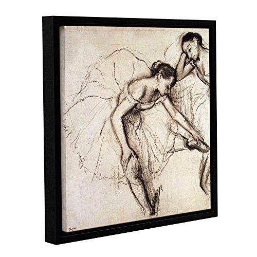 The ArtWall Edgar Degas 'Two Dancers Resting' Floater-Frame 10x10 Canvas Artwork
