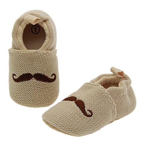 Just easy Bart Muster Lauflernschuhe Krabbelschuhe Babyschuhe Stricken Schuh