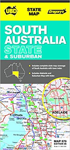 Map Of Australia 26th Parallel.South Australia State Suburban Map 570 26th Ed State Map