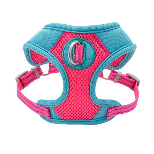 Coastal Pet Pro Reflective Mesh Dog Harness, Fuchsia with Teal, X-Small 5/8
