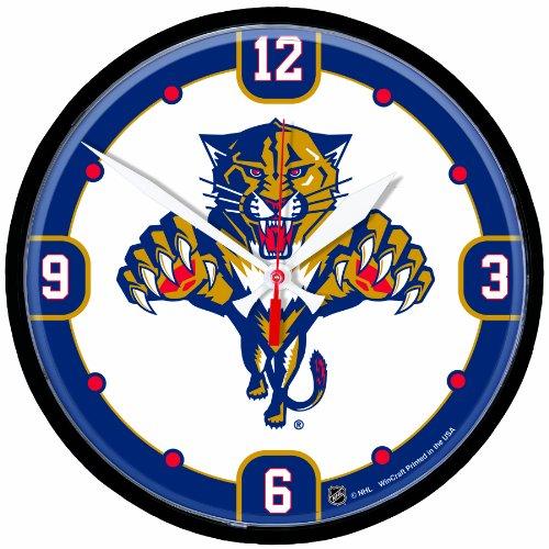 NHL Florida Panthers Round Clock - Nhl Round Clock