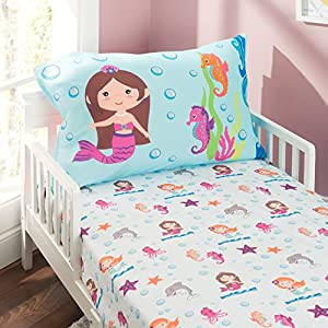 51HVHCib3kL._SS300_ Mermaid Crib Bedding and Mermaid Nursery Bedding Sets