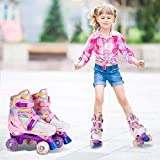 GVDV Roller Skates for Girls - Adjustable Size