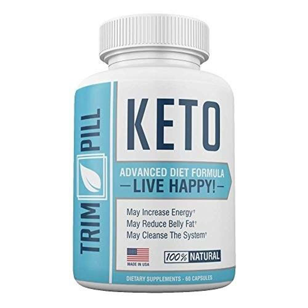 Trim Pill Keto Advanced Diet Formula - BHB Carb Blocker Supplements - 100% Natural - 30 Day Supply - 60 Capsules (1 Month Supply)