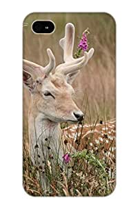 Dionnecortez Iphone 4/4s Well-designed Hard Case Cover Animal Deer Protector For New Year's Gift