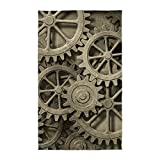 CafePress Steampunk Cogwheels Decorative Area Rug, Fabric Throw Rug