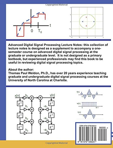 Advanced Digital Signal Processing Lecture Notes 2017