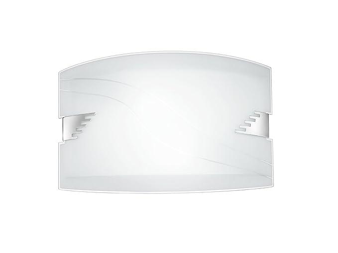 Plafoniere Rettangolari Da Parete : Plafoniera da parete rettangolare vetro bianco due luci e