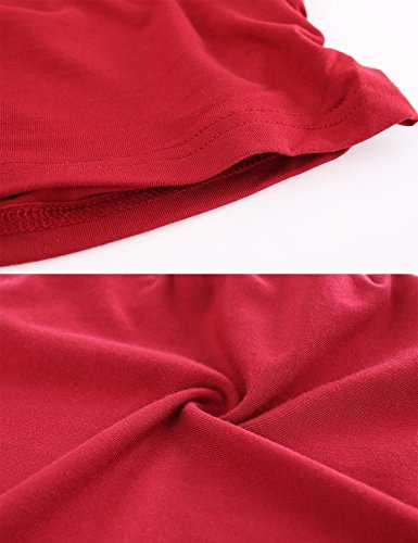 Peauty Maternity Tank Tops Bathing Suit t Shirts Shorts Pregnancy Clothes Women Plus Size 2X 3X (WineRed,XXXL) by Peauty (Image #5)