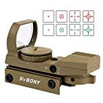 SVBONY Red and Green Dot Sight Reflex Sight Tactical 4 Reticles 5 Brightness Levels 20mm Mount 33mm Reflex Lens and 2 Allen Screws