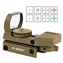 SVBONY Red Green Dot Scope Sight Airsoft Sights for Reflex Sight Tactical with 4 Reticles Patterns HD Night Sights 20mm Mount Rail