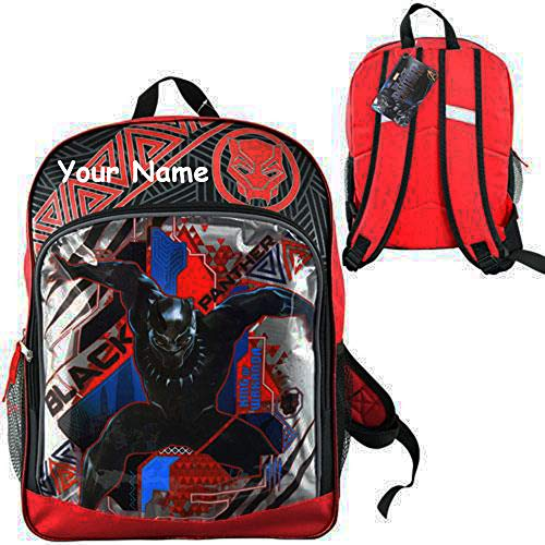 School Personalized (Personalized Marvel Comic Black Panther Back to School Backpack Book Bag - 16 Inches)