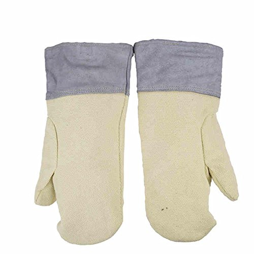High Temperature 500 ° Glove Oven Thermal Insulation Working Gloves Wear Resistant Wrinkle Thicker Microwave Universal Gloves , l by LIXIANG (Image #6)