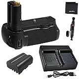 Battery Grip Bundle F/ Nikon D90: Includes MB-D80 Replacement Grip, 1-Pk EN-EL3e Replacement Long-Life Battery, Rapid Dual Charger, UltraPro Accessory Bundle