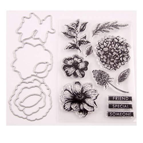 Flower Seal Stamp With Cutting Dies Stencil Set DIY Scrapbooking Embossing Photo Album Decorative Paper Card Craft Art Handmade
