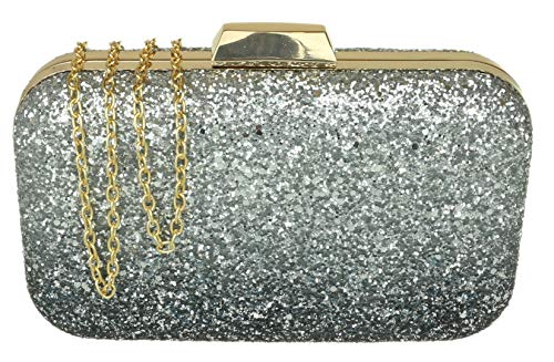 HandBags Blue Girly Gradient Glitter Bag Clutch xdAgdawz