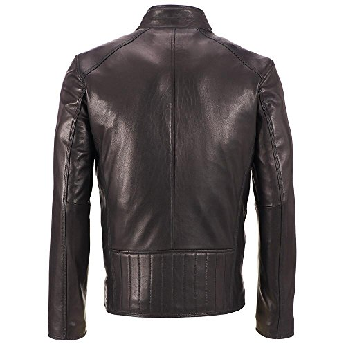 Wilsons-Leather-Mens-Stand-Up-Collar-Lamb-Jacket-WQuilted-Lower-Back