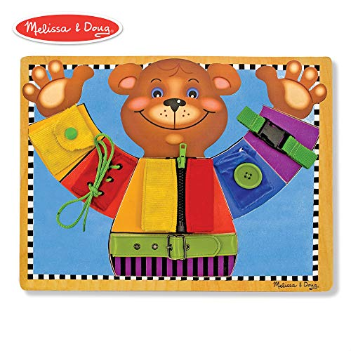 Melissa & Doug Basic Skills Board (Developmental Toys, 6 Removable Pieces & Puzzle Board, Practice Fine Motor - Fine Infants Motor