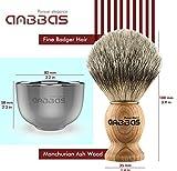 Shaving Brush Set, 4pcs Anbbas Pure Badger Hair
