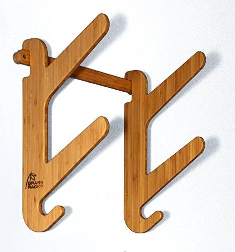 Grassracks Bamboo Snowboard Rack for 2 Snowboards or Skateboards Moloka'i Duo by Grassracks