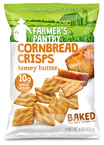 Farmer's Pantry Honey Butter Cornbread Crisps, Original, 6 Ounce (Pack of 2)