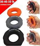 HoopsKing Rip N Grip Hand Strengtheners - Grip Builder - Get Better Wrist Snap On Your Shot, Throw Crisper Passes, Catch the Ball Easier, Increase Your Shooting Range - Easily Work All The Fingers O