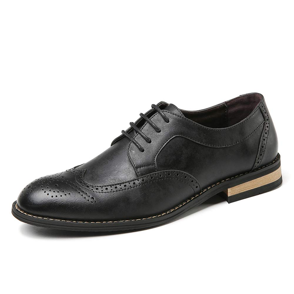 Brogue da Uomo Moderno Carving Modern Wingtip Lace Lace Lace Dress scarpe Casual Flat Mocassini Lace Up Round Toe Tacco Basso Scarpe da Cricket 454206