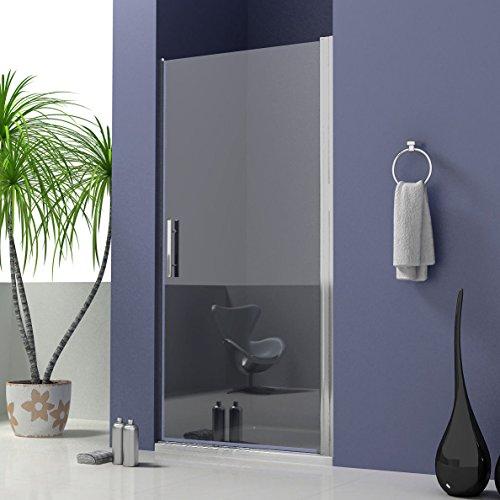 90x195cm Duschtür Duschabtrennung Pendeltür für Nischen Dusche Duschwand NANO Echtglas (A1-90E V2+1B V2)