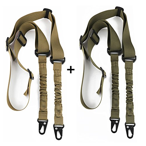 Accmor 2 Point Rifle Sling Extra Long Gun Sling Traditional Sling with Metal Hook for Outdoor Sports