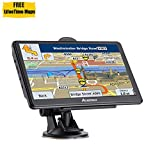 Aonerex GPS Navigation for car 7 inch Touch Screen + 8GB Voice Prompt GPS Navigation System Built-in Lifetime Maps,Driving Alarm/Voice Steering