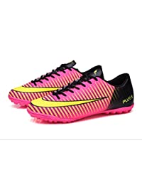 LIBINXIF Kids Soccer Shoes Men Indoor Outdoor Football Boots Athletic Turf Mundial Team Cleat Running Sports Lightweight Breathable Anti-Skid Damping Shoes
