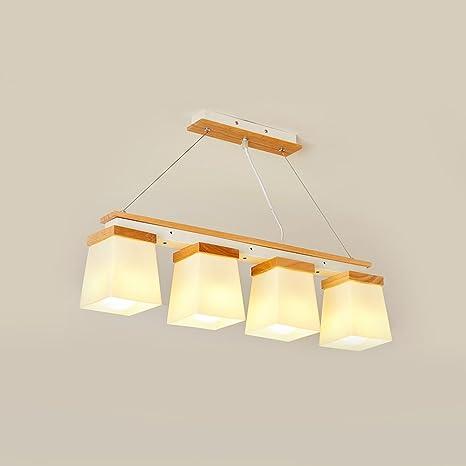cbjktx lámpara colgante Comedor Madera - Lámpara (E27 ...
