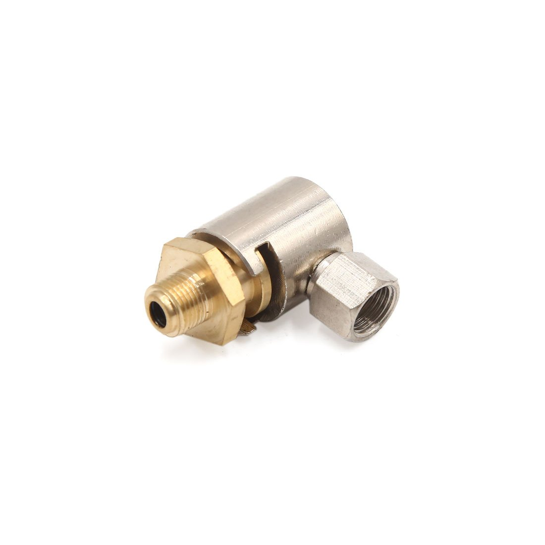Uxcell a17083100ux0291 Brass Tone Button Head Grease Zerk Nipple Fitting Coupler for Car Vehichle