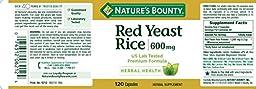 Nature\'s Bounty Red Yeast Rice 600 mg, 120 Capsules