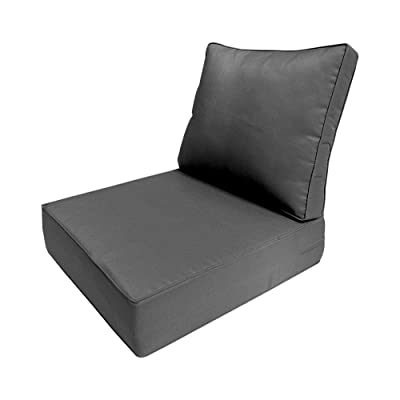 MH GLOBAL Piped Trim Large Deep Seat + Back Slip Cover Only Outdoor Polyester 26x30x6 AD003 : Garden & Outdoor