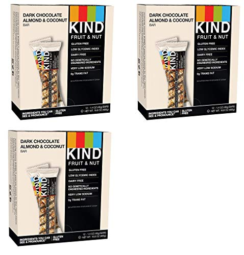 KIND Bars, Dark Chocolate Almond Coconut, Gluten Free, 1.4 Ounce Bars, 36 Bars KIND-wT by KIND (Image #1)