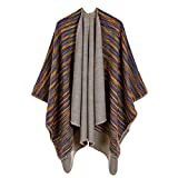 Women Poncho And Cap Vintage Blanket Scarf For Lady Knitted Warm Winter Cashmere Scarves Coat c20