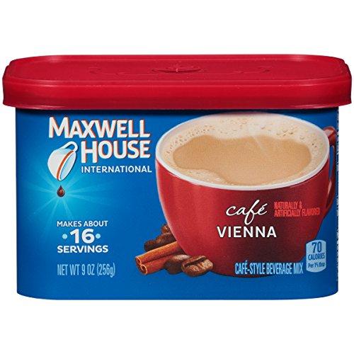 Maxwell House International Café Flavored Instant Coffee, Café Vienna, 9 Ounce Canister
