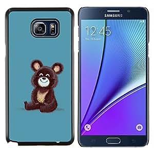 YiPhone /// Prima de resorte delgada de la cubierta del caso de Shell Armor - Oso pardo Olímpico Dibujo lindo de la historieta - Samsung Galaxy Note 5 5th N9200