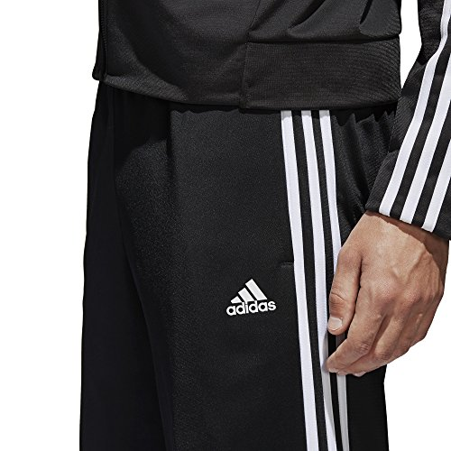 adidas Men's Athletics Essential Tricot 3-Stripe Pants, Black/White, Small by adidas (Image #6)