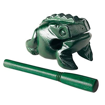 Meinl NINO Wood Frog Medium Green: Musical Instruments
