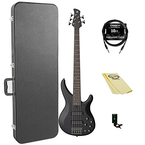 Yamaha TRBX505 TBL 5-String Bass Guitar Pack